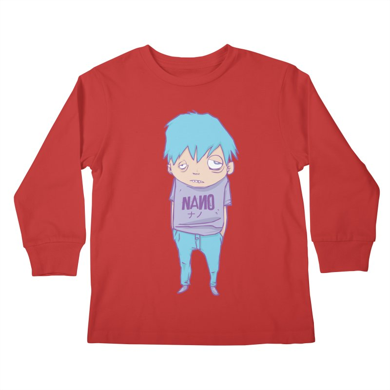 unimpressed and unbothered Kids Longsleeve T-Shirt by [NANO]'s Tienda