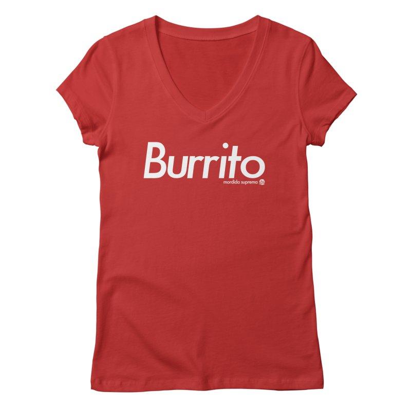 Burrito Women's V-Neck by [NANO]'s Tienda