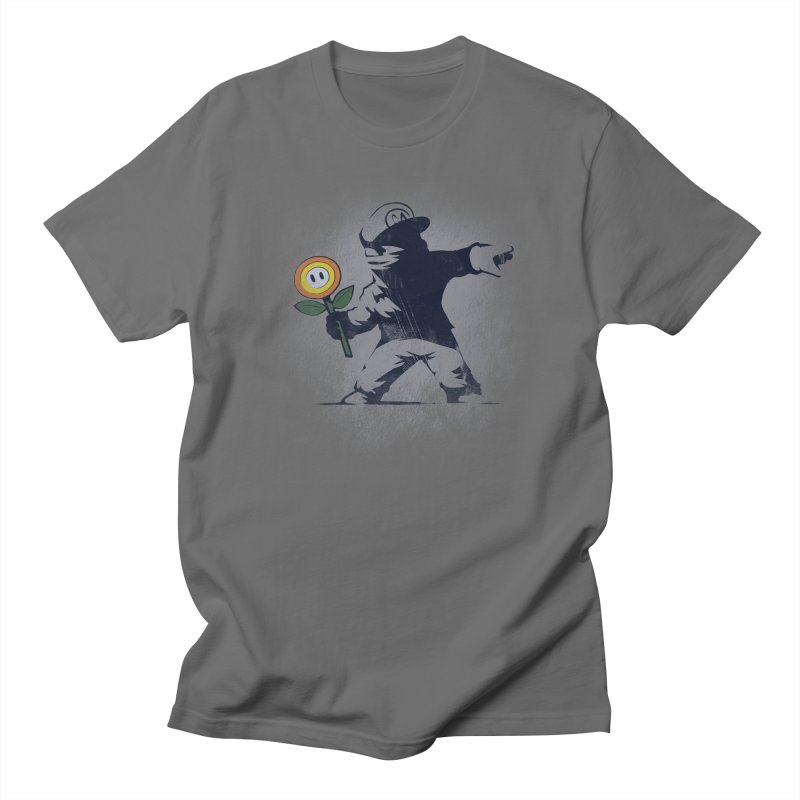 Banksy Flower Men's T-Shirt by Naolito