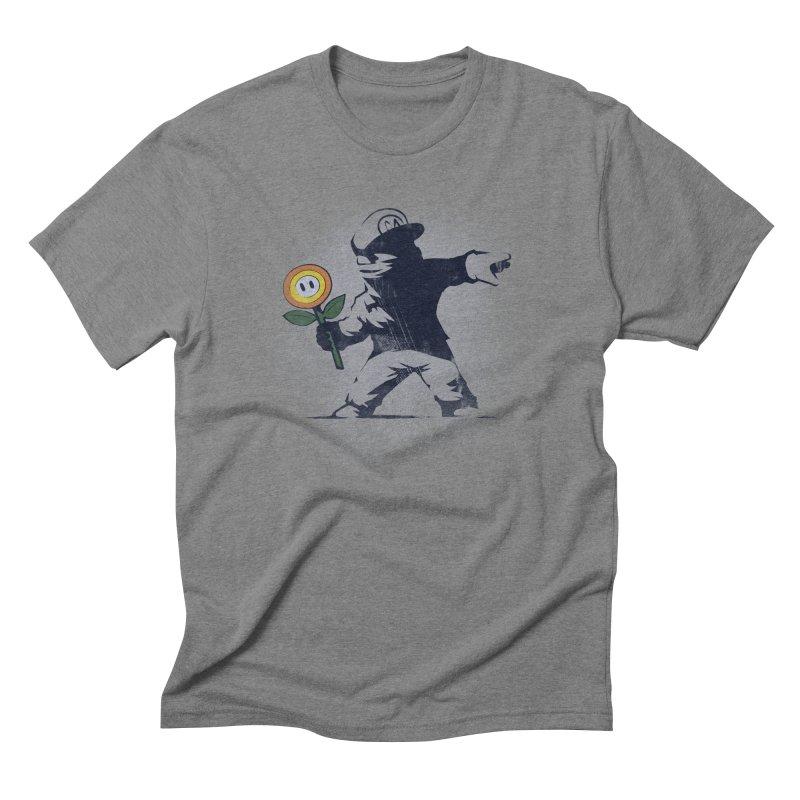 Banksy Flower Men's Triblend T-Shirt by Naolito