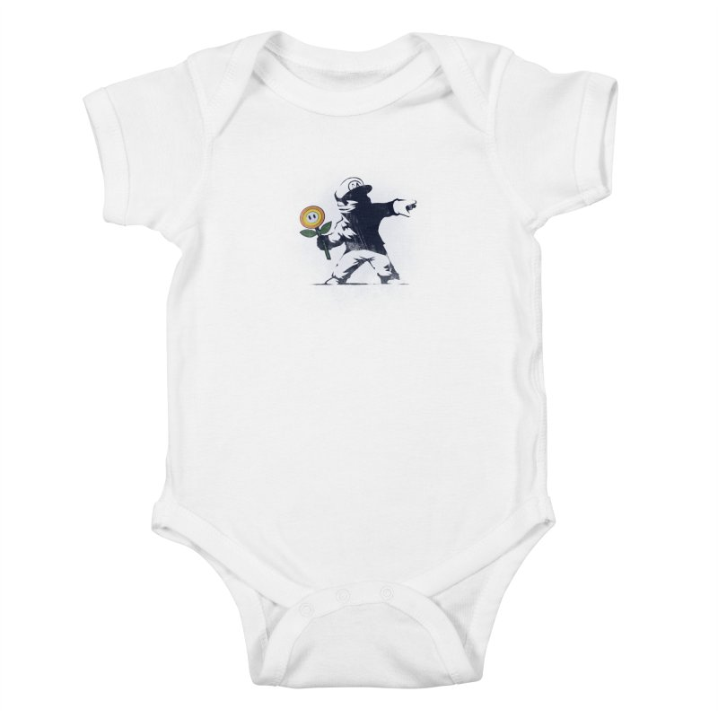 Banksy Flower Kids Baby Bodysuit by Naolito