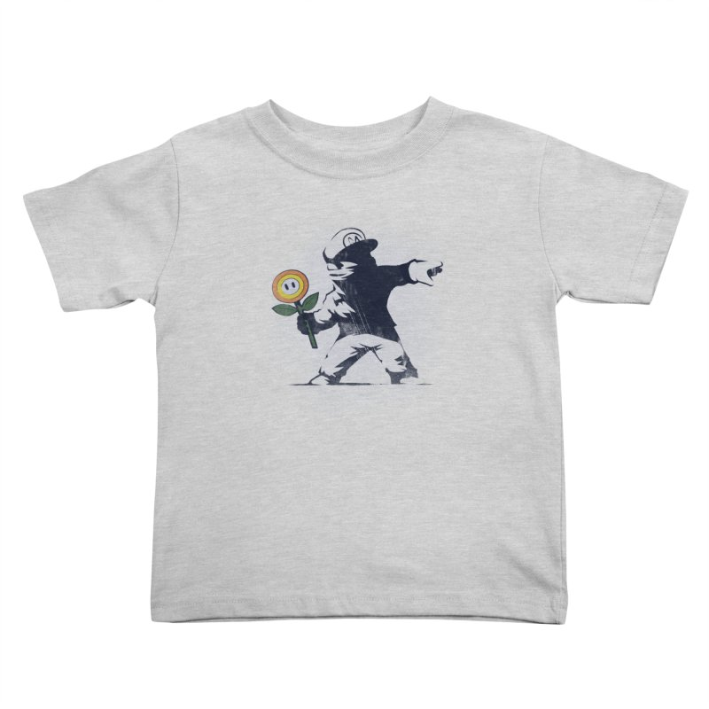 Banksy Flower Kids Toddler T-Shirt by Naolito