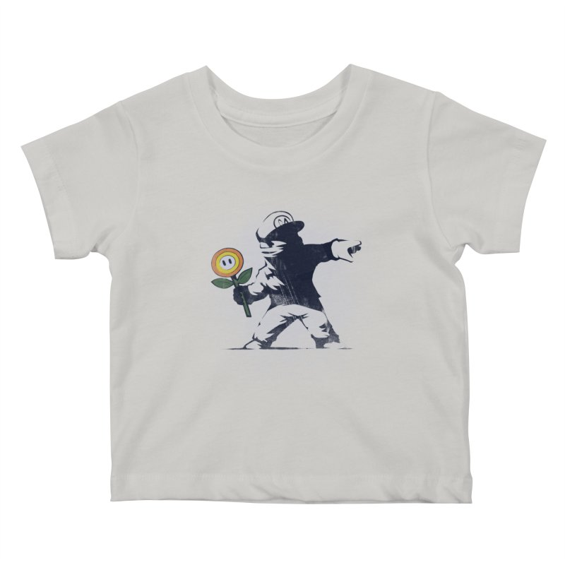 Banksy Flower Kids Baby T-Shirt by Naolito