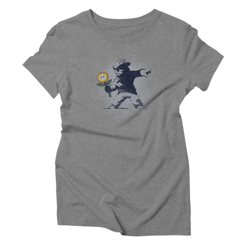 Banksy Flower Women's Triblend T-Shirt by Naolito