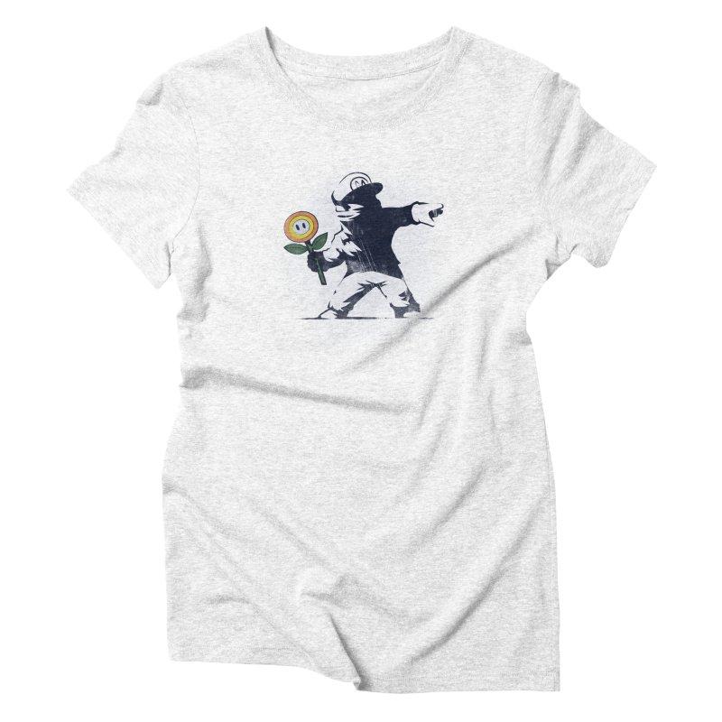 Banksy Flower Women's Triblend T-shirt by Naolito