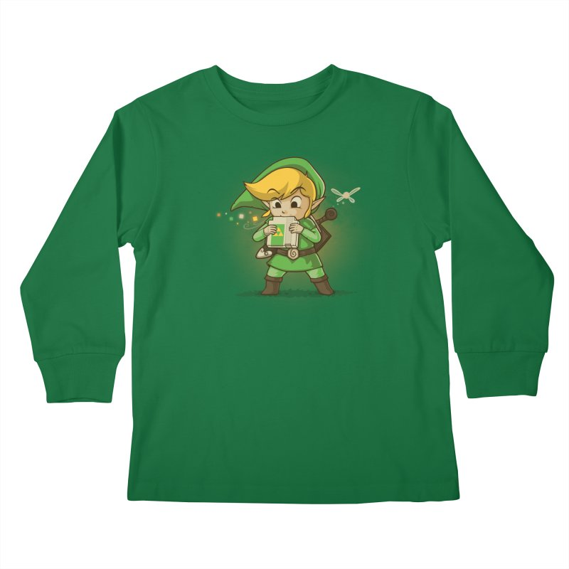 Cartridge of Time Kids Longsleeve T-Shirt by Naolito