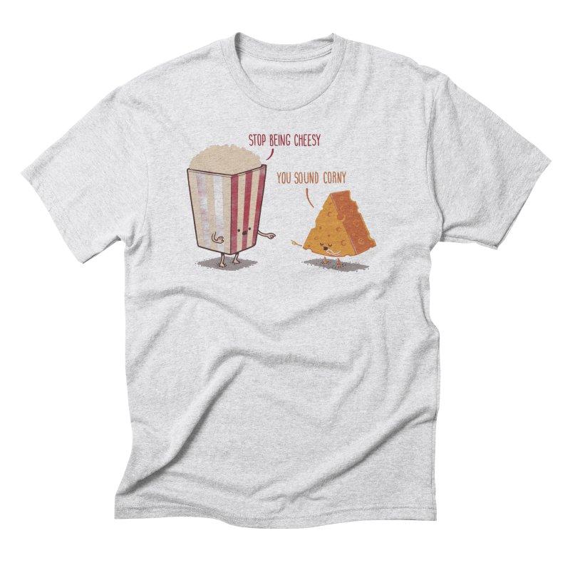 Corny Cheesy Men's Triblend T-Shirt by Naolito