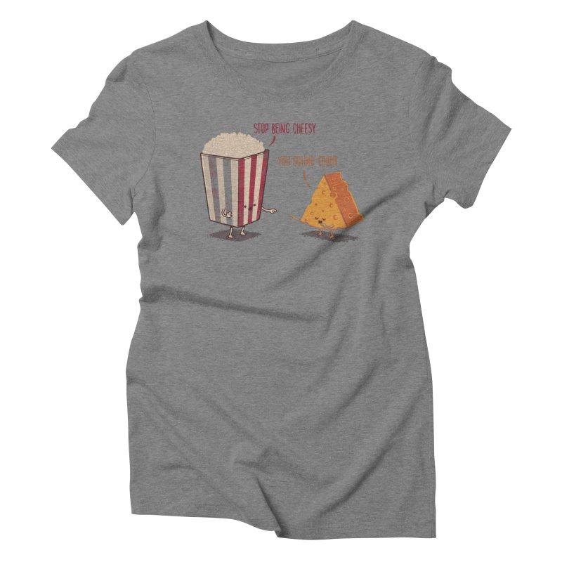 Corny Cheesy Women's Triblend T-shirt by Naolito
