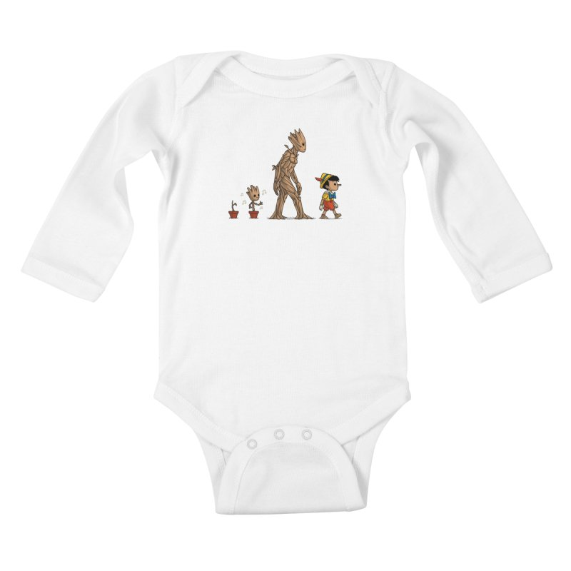 Galactic Evolution Kids Baby Longsleeve Bodysuit by Naolito