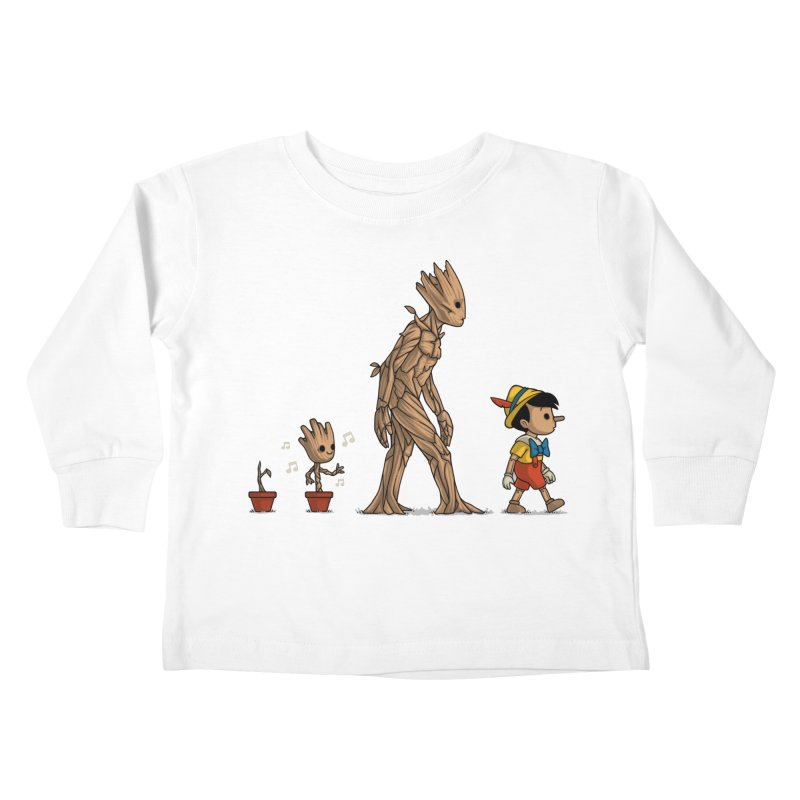 Galactic Evolution Kids Toddler Longsleeve T-Shirt by Naolito
