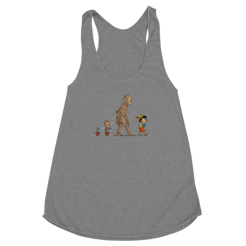 Galactic Evolution Women's Racerback Triblend Tank by Naolito