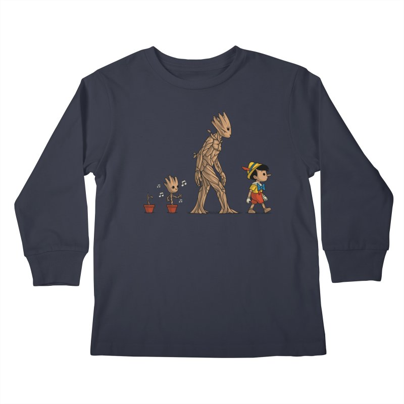 Galactic Evolution Kids Longsleeve T-Shirt by Naolito