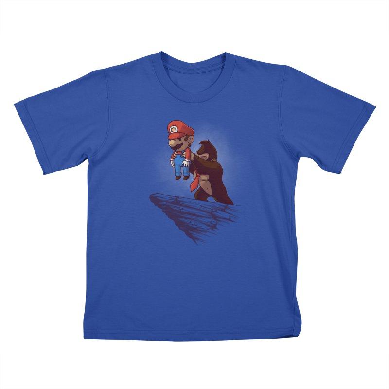 Gaming King Kids T-Shirt by Naolito
