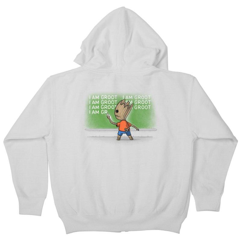 Groot's Detention Kids Zip-Up Hoody by Naolito