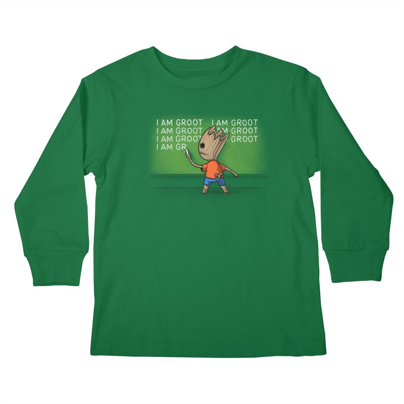 Groot's Detention Kids Longsleeve T-Shirt by Naolito