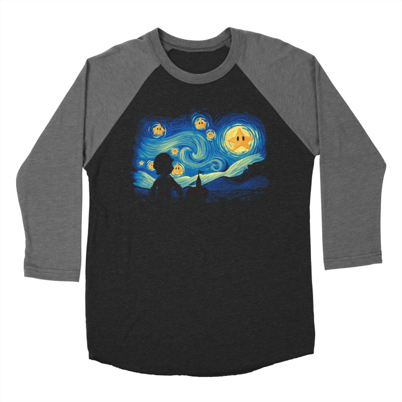 Super Starry Night Men's Baseball Triblend T-Shirt by Naolito