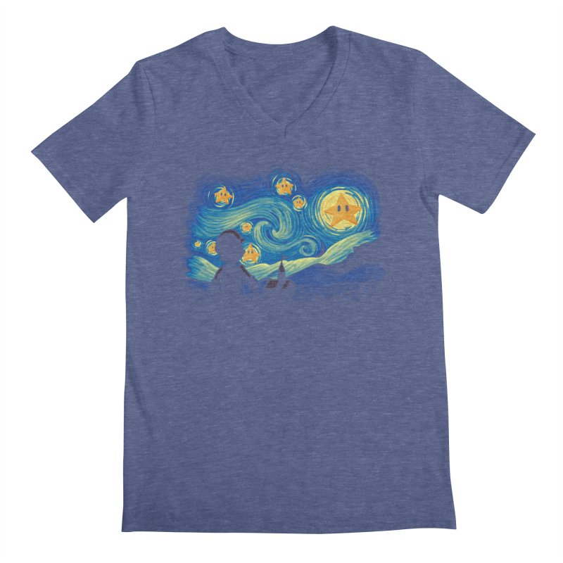 Super Starry Night Men's V-Neck by Naolito