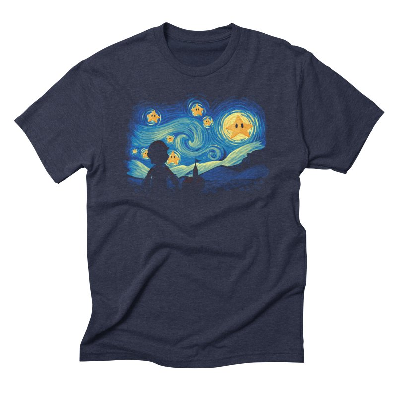 Super Starry Night Men's Triblend T-shirt by Naolito