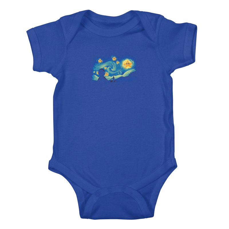 Super Starry Night Kids Baby Bodysuit by Naolito