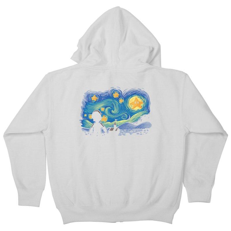 Super Starry Night Kids Zip-Up Hoody by Naolito