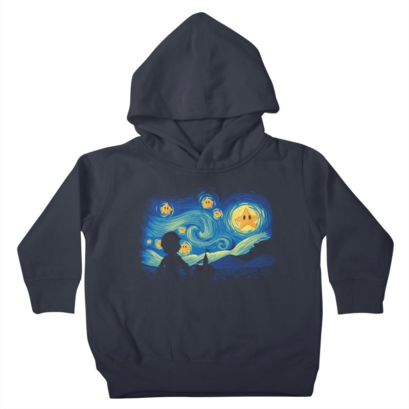 Super Starry Night Kids Toddler Pullover Hoody by Naolito