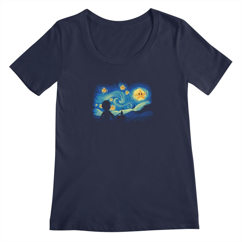 Super Starry Night Women's Scoopneck by Naolito
