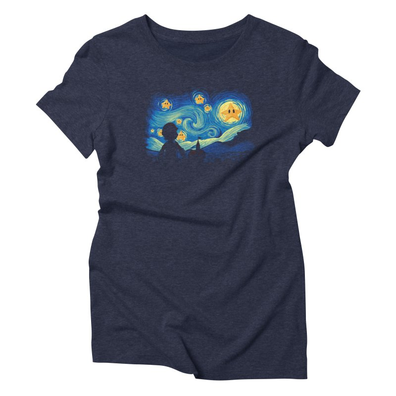 Super Starry Night Women's Triblend T-Shirt by Naolito