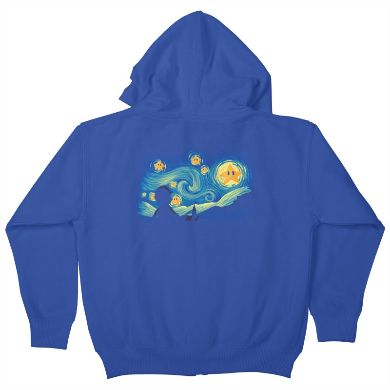 Super Starry Night Kids Zip-Up Hoody by Naolito