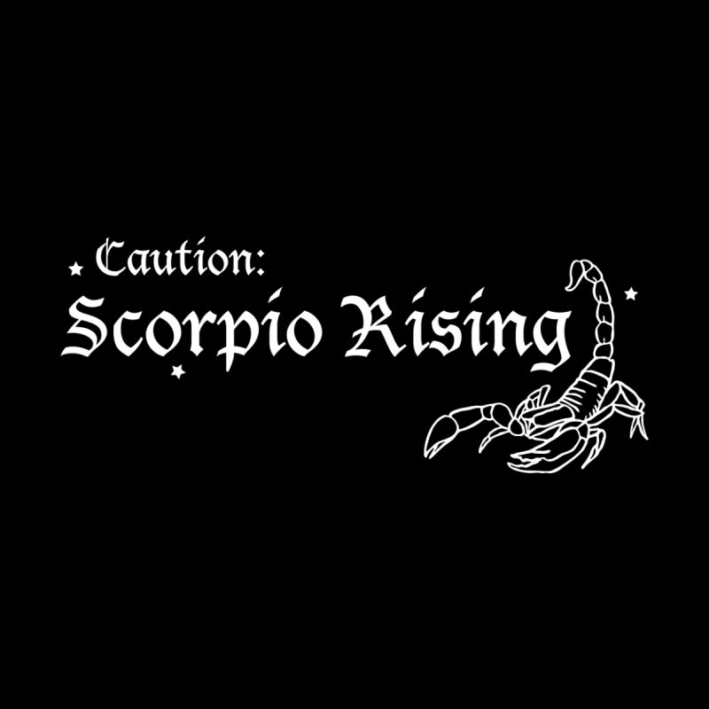 Caution: Scorpio Rising Men's T-Shirt by Naomi Mariko Creates