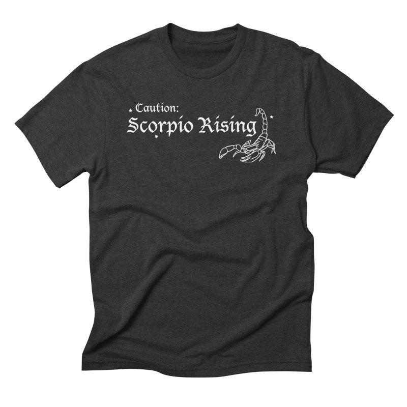 Caution: Scorpio Rising Men's T-Shirt by Naomi Mariko Creates