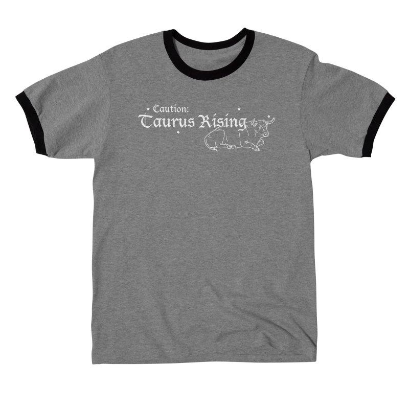 Caution: Taurus Rising Men's T-Shirt by Naomi Mariko Creates