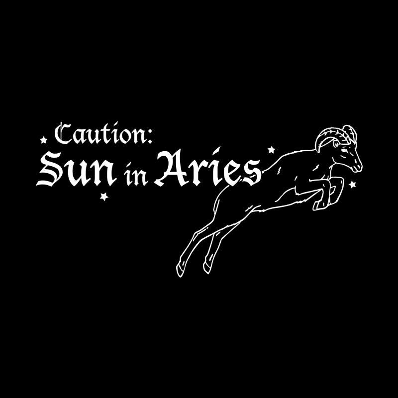 Caution: Sun in Aries Men's T-Shirt by Naomi Mariko Creates
