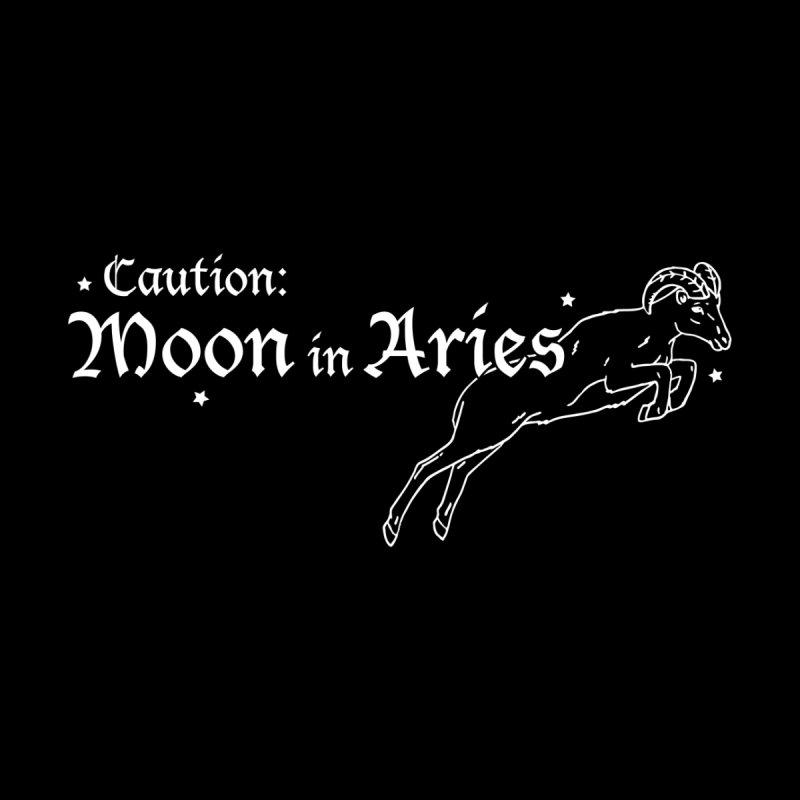 Caution: Moon in Aries Men's T-Shirt by Naomi Mariko Creates