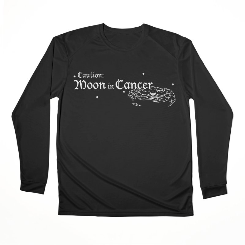 Caution: Moon in Cancer Women's Longsleeve T-Shirt by Naomi Mariko Creates