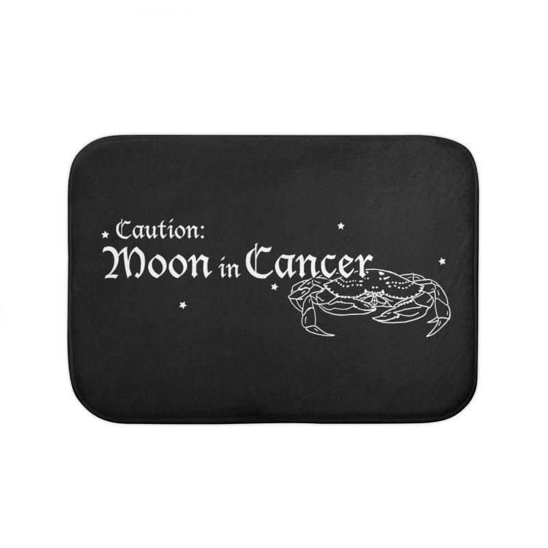 Caution: Moon in Cancer Home Bath Mat by Naomi Mariko Creates