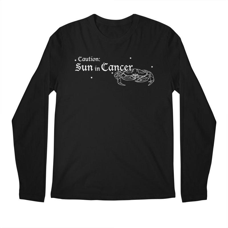 Caution: Sun in Cancer Men's Longsleeve T-Shirt by Naomi Mariko Creates