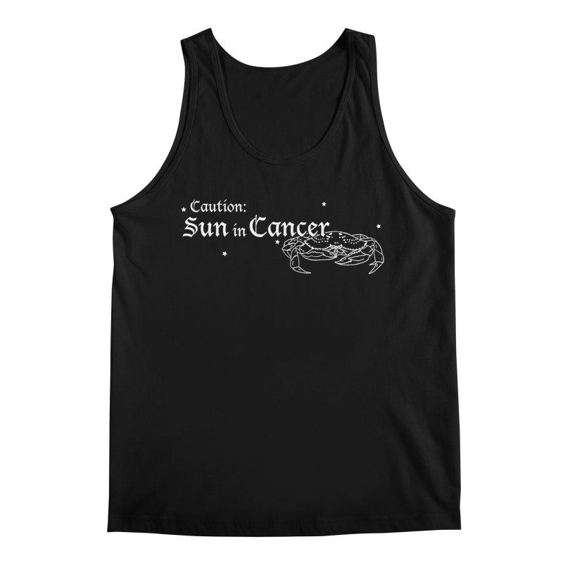 Caution: Sun in Cancer Men's Tank by Naomi Mariko Creates