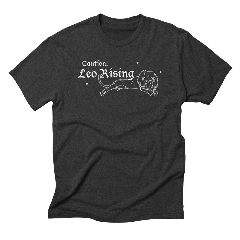 Caution: Leo Rising Men's T-Shirt by Naomi Mariko Creates