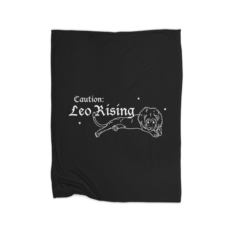 Caution: Leo Rising Home Blanket by Naomi Mariko Creates
