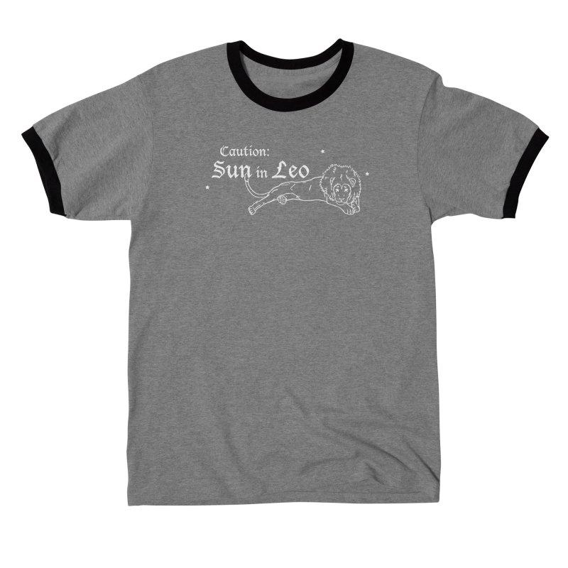 Caution: Sun in Leo Men's T-Shirt by Naomi Mariko Creates