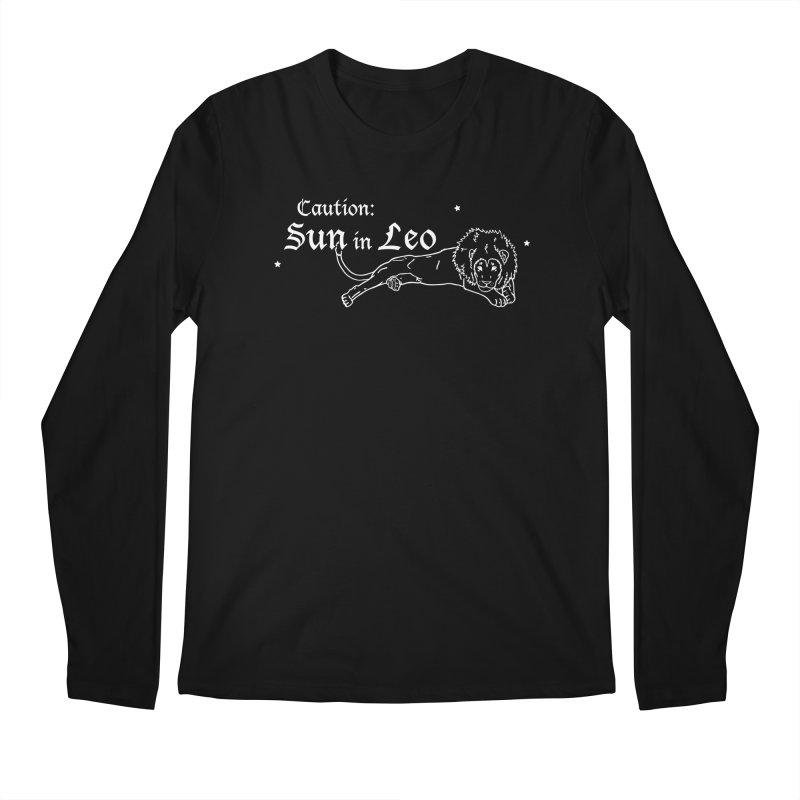 Caution: Sun in Leo Men's Longsleeve T-Shirt by Naomi Mariko Creates