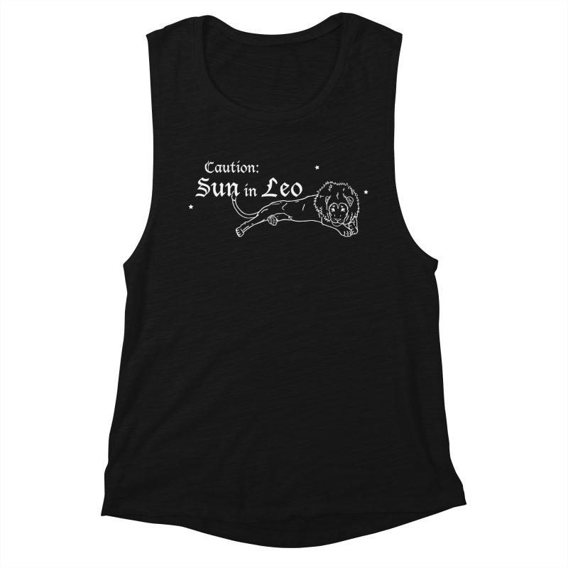 Caution: Sun in Leo Women's Tank by Naomi Mariko Creates