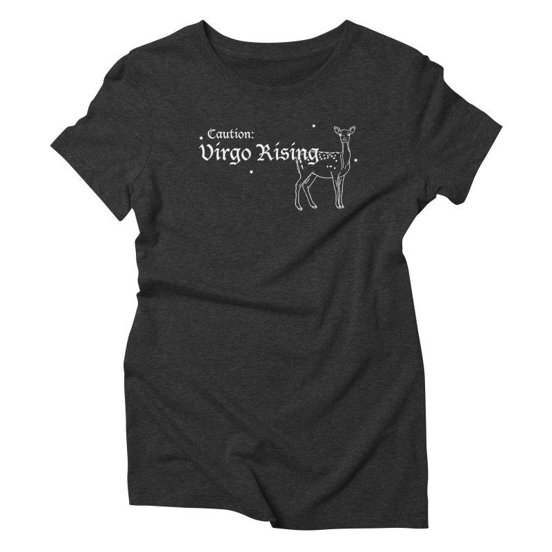 Caution: Virgo Rising Women's T-Shirt by Naomi Mariko Creates