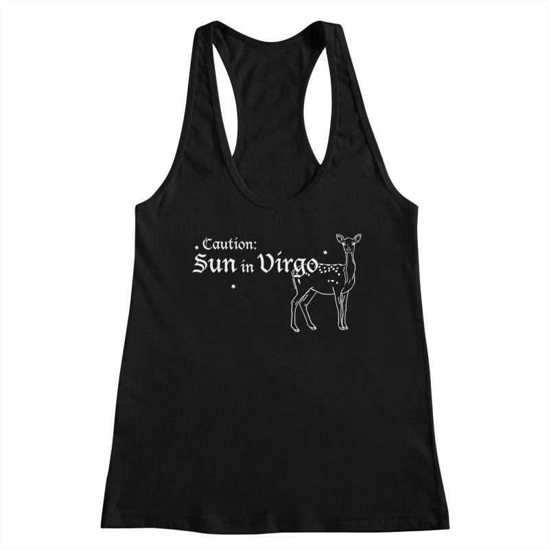 Caution: Sun in Virgo Women's Tank by Naomi Mariko Creates