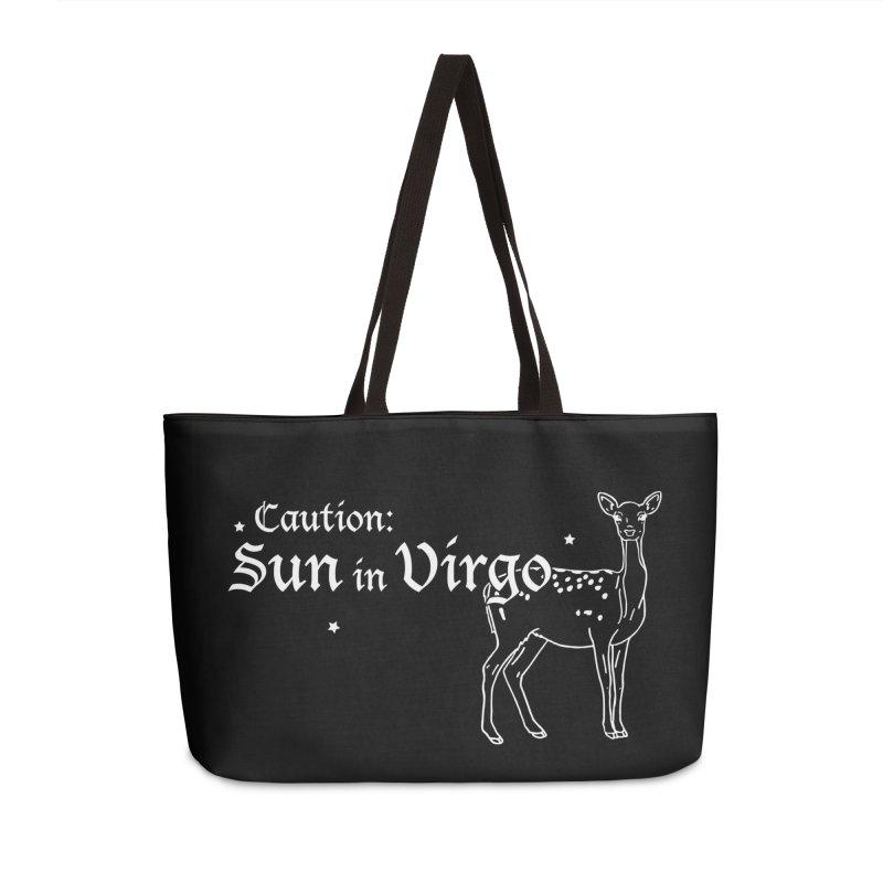 Caution: Sun in Virgo Accessories Bag by Naomi Mariko Creates