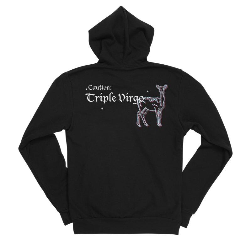 Caution: Triple Virgo Men's Zip-Up Hoody by Naomi Mariko Creates
