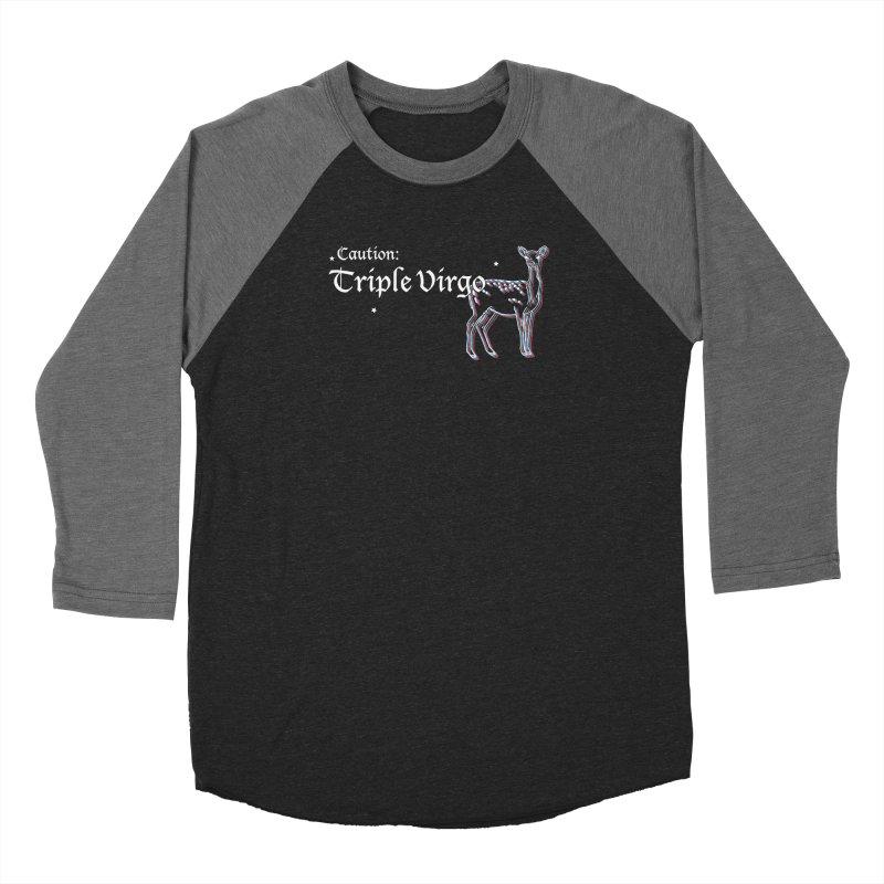 Caution: Triple Virgo Men's Longsleeve T-Shirt by Naomi Mariko Creates