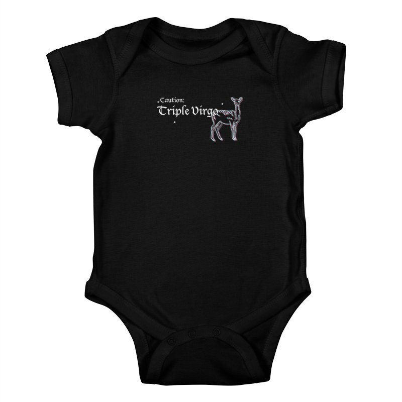 Caution: Triple Virgo Kids Baby Bodysuit by Naomi Mariko Creates