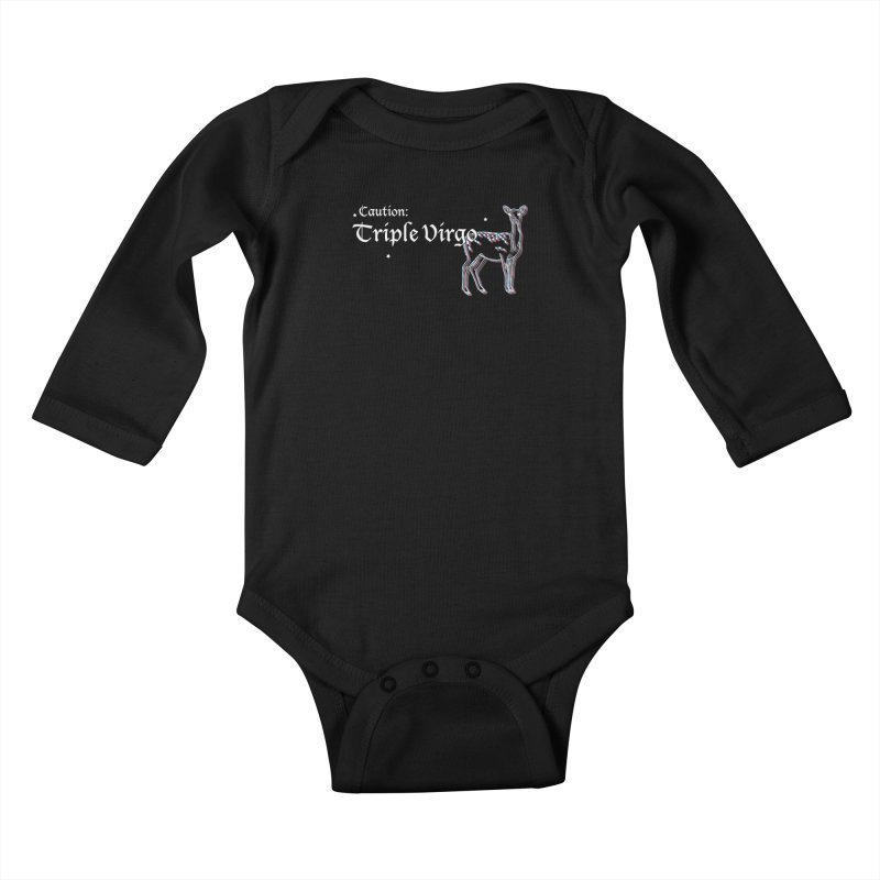 Caution: Triple Virgo Kids Baby Longsleeve Bodysuit by Naomi Mariko Creates