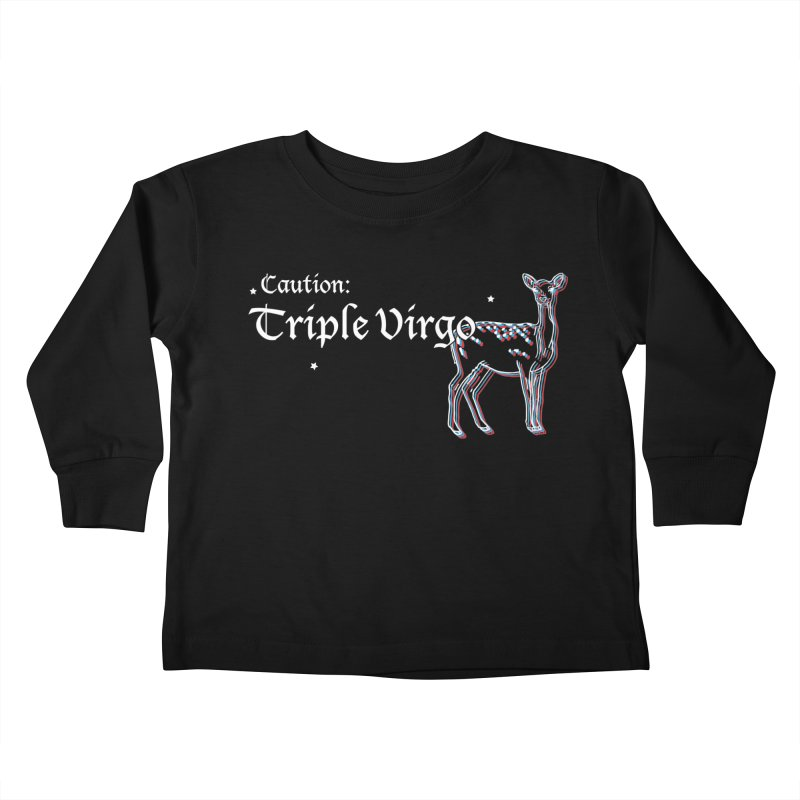 Caution: Triple Virgo Kids Toddler Longsleeve T-Shirt by Naomi Mariko Creates